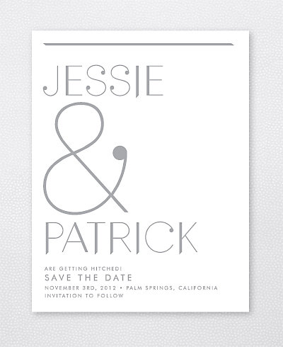 Pop Deco Foil/Letterpress Save the Date Card