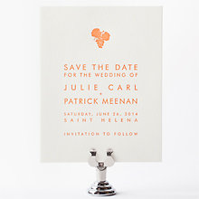 Wine Country Skyline: Letterpress Save the Date