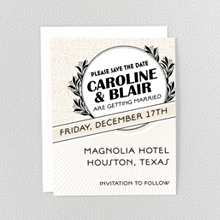 Marquee: Letterpress Save the Date