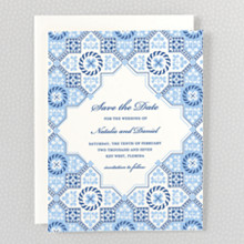 Marrakesh: Letterpress Save the Date