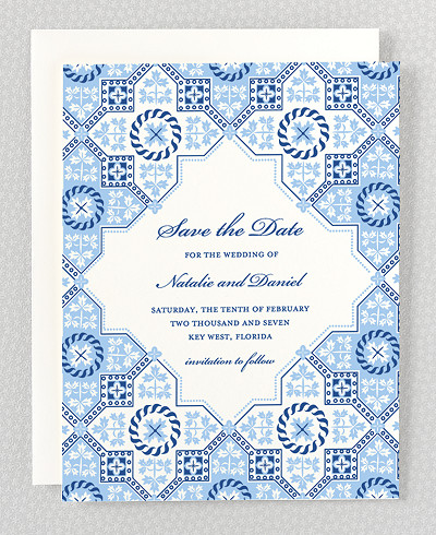 Marrakesh Letterpress Save the Date Card