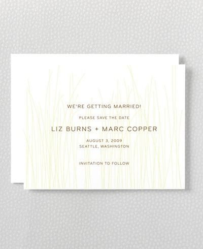 Meadow Letterpress Save the Date Card