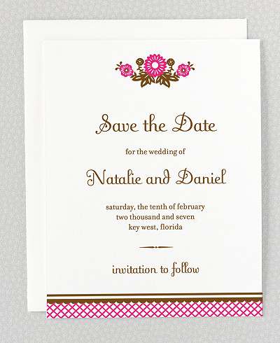 Mi Amor Letterpress Save the Date Card