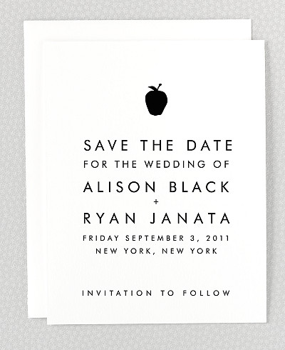 New York City Skyline Save the Date Card
