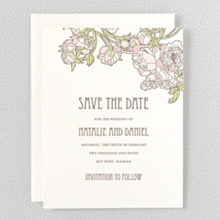 Nouveau Peonies - Save the Date