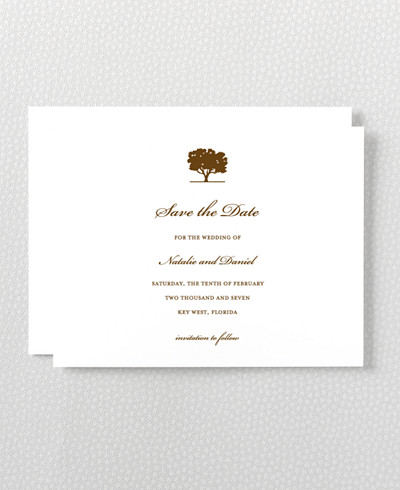 Oak Letterpress Save the Date