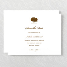 Oak - Letterpress Save the Date