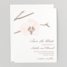 Orchid - Letterpress Save the Date
