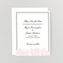 Peonies---Letterpress Save the Date