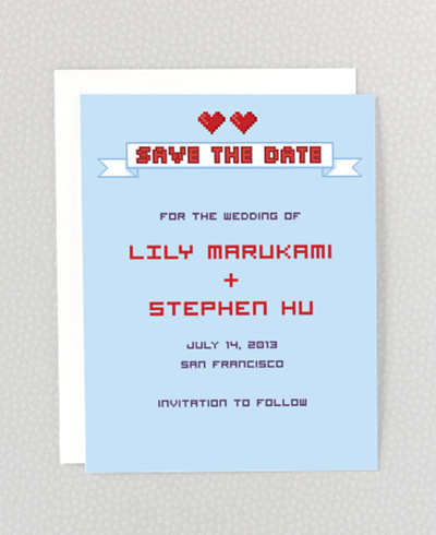 Pixel Perfect Save the Date Card