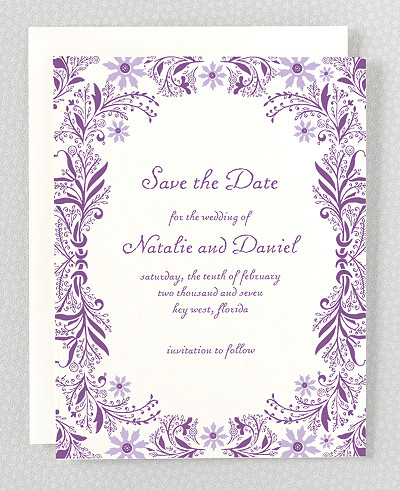 Provence Letterpress Save the Date Card