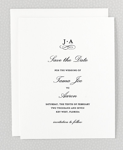 Ritz Letterpress Save the Date Card