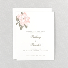 Romantic Garden: Letterpress Save the Date