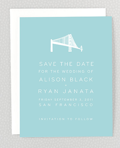 San Francisco Skyline Save the Date Card