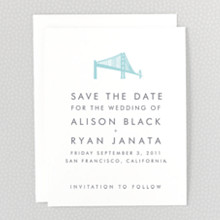 San Francisco Skyline: Letterpress Save the Date