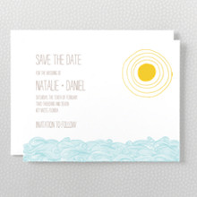 Seagulls---Letterpress Save the Date