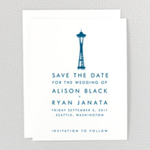 Seattle Skyline---Save the Date