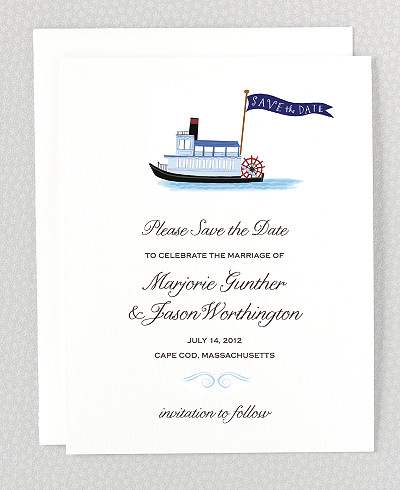 Southern Belle Save the Date Card