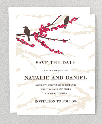 Sparrows Save the Date Card