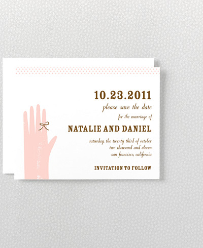 Sweetheart Letterpress Save the Date Card
