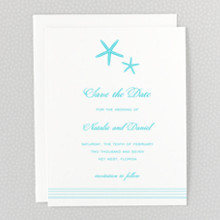 Tides - Letterpress Save the Date