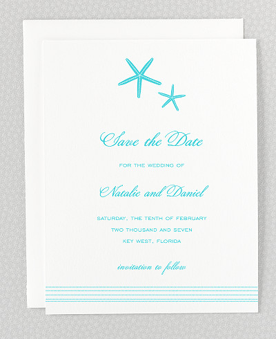 Tides Letterpress Save the Date