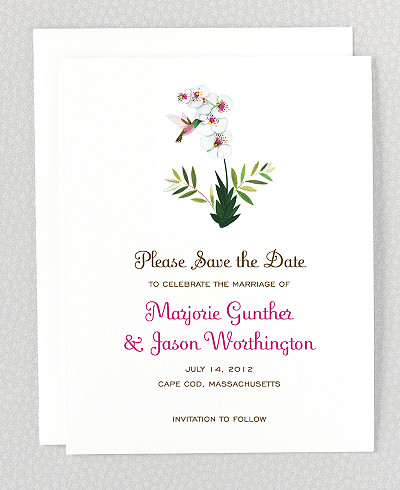 Tropical Paradise Save the Date Card