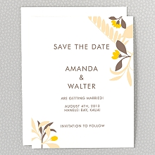 Tropic: Letterpress Save the Date