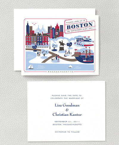 Visit Boston Save the Date Card