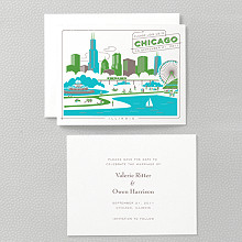 Visit Chicago---Letterpress Save the Date