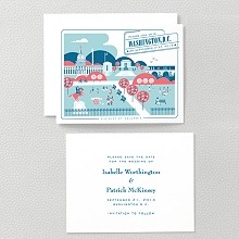 Visit Washington, D.C.---Letterpress Save the Date
