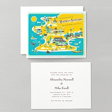 Visit Martha's Vineyard---Letterpress Save the Date