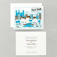 Visit New York---Letterpress Save the Date