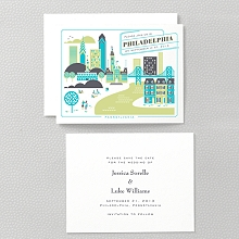 Visit Philadelphia---Letterpress Save the Date