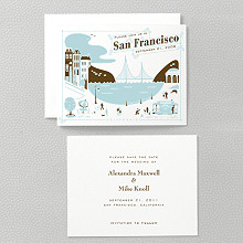 Visit San Francisco---Letterpress Save the Date