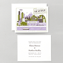 Visit Seattle---Letterpress Save the Date