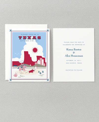 Visit Texas Save the Date Card