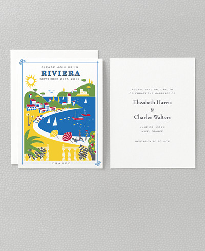 Visit the Riviera Save the Date Card
