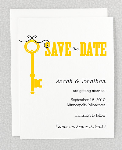 Whimsy Letterpress Save the Date Card