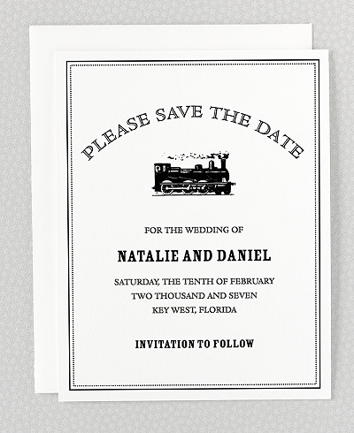 Wildwood Letterpress Save the Date Card