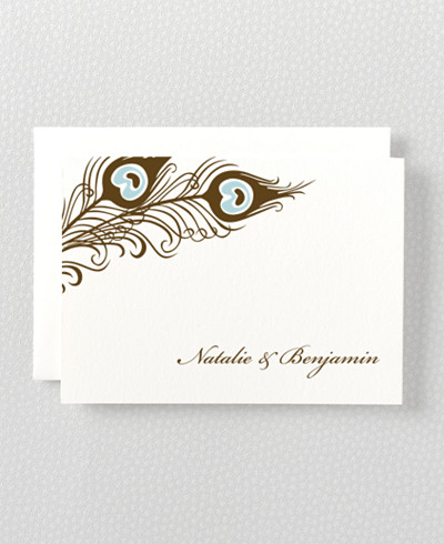 Antoinette Letterpress Folded Note Card
