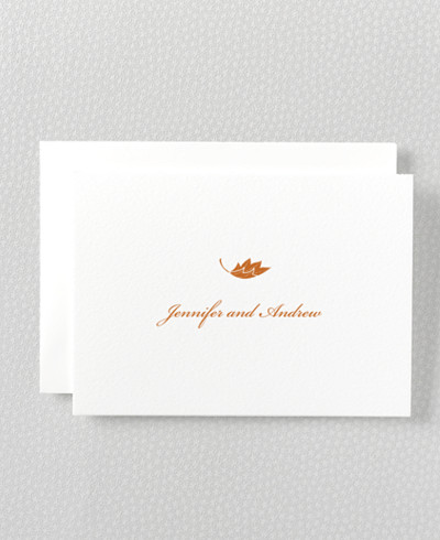 Autumn Leaves Folded Note Card