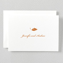 Autumn Leaves---Letterpress Folded Note Card
