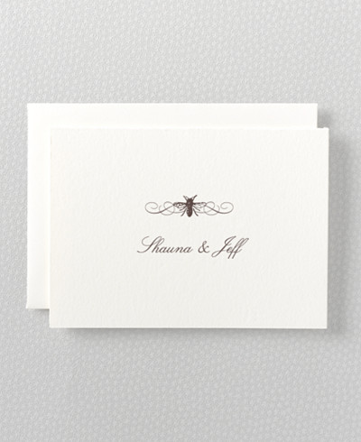 Belle Epoque Letterpress Folded Note Card