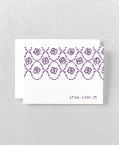 Bohemian Letterpress Folded Note Card