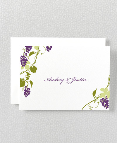 Bordeaux Folded Note Card