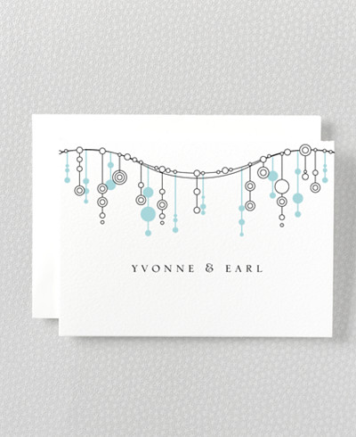 Chandelier Folded Note Card