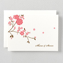 Cherry Blossom---Letterpress Folded Note Card