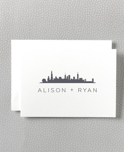 Chicago Skyline Folded Note Card