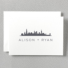 Chicago Skyline: Digital Folded Note Card